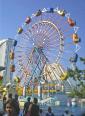 Photograph - The Ferris Wheel At Atlantic City by Emery Graham
