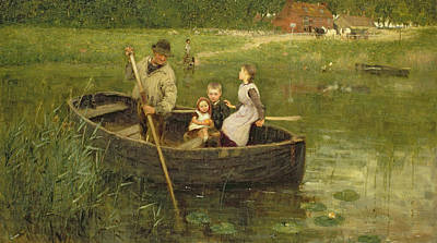 The Dog House Painting - The Ferry by Edward Stott