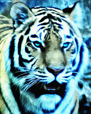 The Fierce Tiger Art Print by Bill Cannon