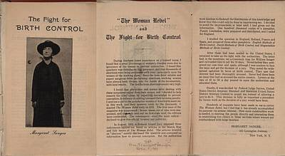The Fight For Birth Control, A Pamphlet Art Print by Everett