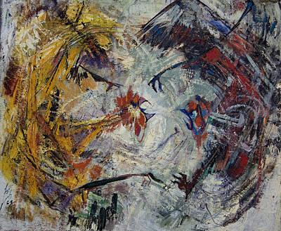 Jewish Painter Painting - The Fight by Naftali Salomon