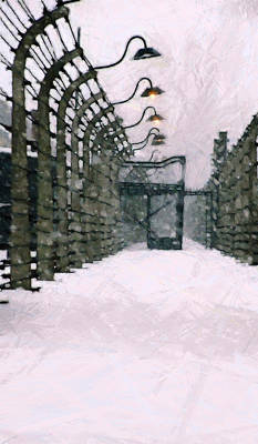 Auschwitz Painting - The Final Path by Steve K