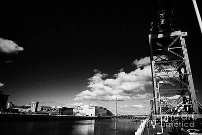 the Finnieston Crane on stobcross quay on the river clyde in Glasgow Scotland U Art Print