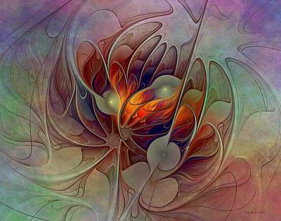 Kim Digital Art - The Fire Inside by Kim Redd