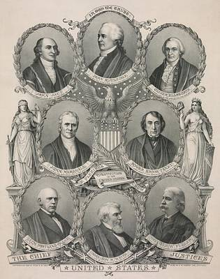 Chief Justice Photograph - The First Eight Chief Justices by Everett