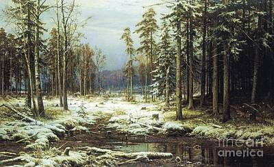 Painting - The First Snow by Pg Reproductions