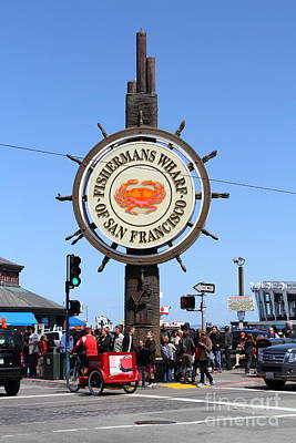 The Fishermans Wharf Sign . San Francisco California . 7d14225 Art Print by Wingsdomain Art and Photography