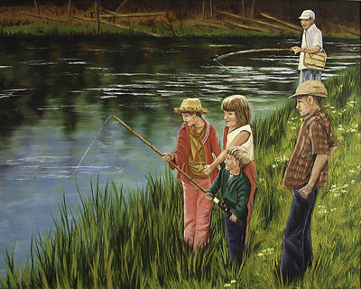 The Fishing Lesson Art Print