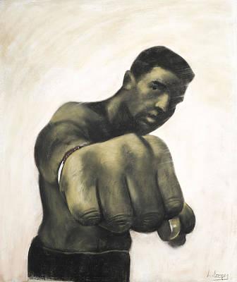 The Fist Art Print by L Cooper