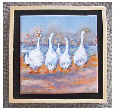 Painting - The Five Outsiders by Sue Prideaux