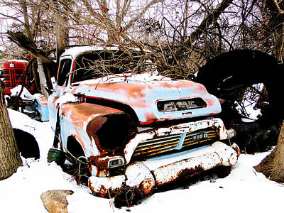 Mixed Media - The Fixer Upper Old Gmc Farm Truck by Bruce Ritchie