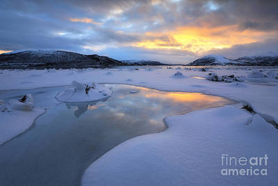 Sunset In Norway Photograph - The Fjord Of Tjeldsundet In Troms by Arild Heitmann
