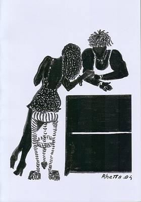 The Flirt Art Print by Rhetta Hughes