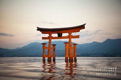 Floating Torii Photograph - The Floating Torii by Ei Katsumata