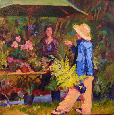 Painting - The Flower Seller by Nanci Cook