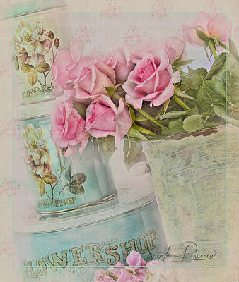 The Flower Shop  Art Print by Sandra Rossouw