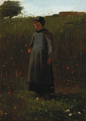 Youth Painting - The Flowers Of The Field by Winslow Homer