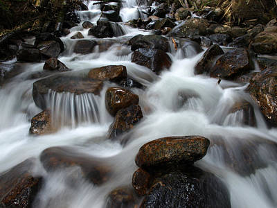 Photograph - The Flowing Creek Bed by DeeLon Merritt