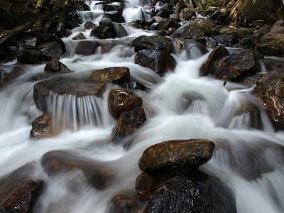 Photograph - The Flowing Creek Bed by DeeLon Merritt