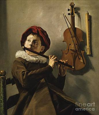 Painting - The Flute Player by Pg Reproductions
