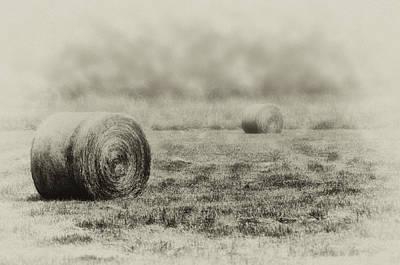 Hay Digital Art - The Foggy Farmers Field by Bill Cannon