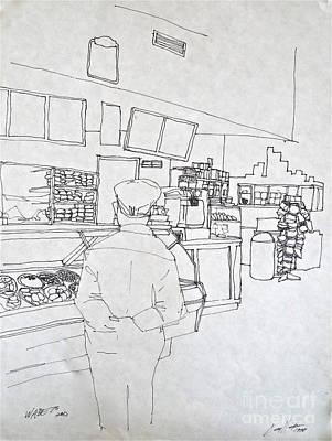 Drawing - The Food Stop by Wade Hampton