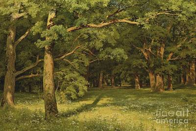 Painting - The Forest Clearing by Pg Reproductions