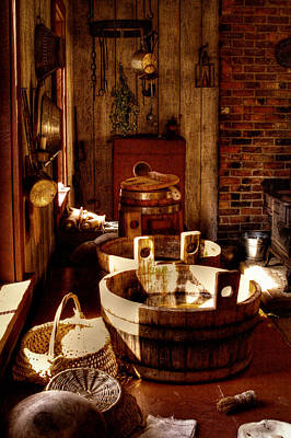 Photograph - The Fort Nisqually Kitchen by David Patterson