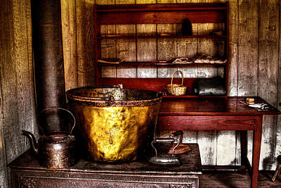 Photograph - The Fort Nisqually Wash Room by David Patterson