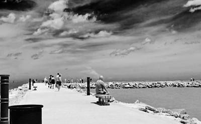 Fort Pierce Inlet Photograph - The Fort Pierce Jetty by Don Youngclaus