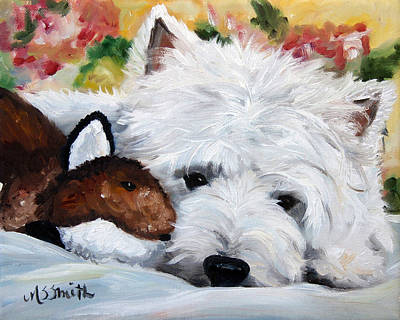 Dog Art Painting - The Fox And The Hound by Mary Sparrow
