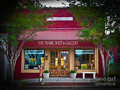 The Frame Shop And Gallery Art Print by Tammy Chesney