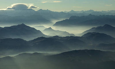 Photograph - The French Alps From Above by Chris Hopkins