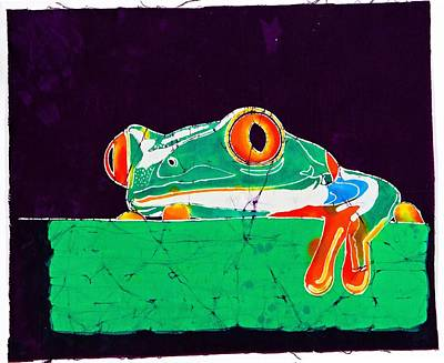 Wax Resist Mixed Media - The Frog by Gene Tilby