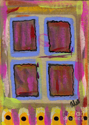 Mixed Media - The Front Windowpanes by Angela L Walker
