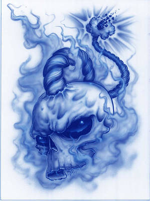 The Fuse Is Lit In Blue Art Print by Mike Royal