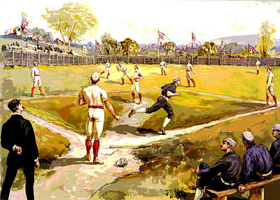 The Game Art Print by Charles Shoup
