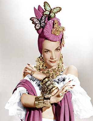 Statement Necklace Photograph - The Gangs All Here, Carmen Miranda by Everett
