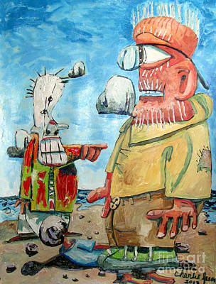 The Garbage Bag Clown Kicked Me Off The Beach For A Misstep Original by Charlie Spear