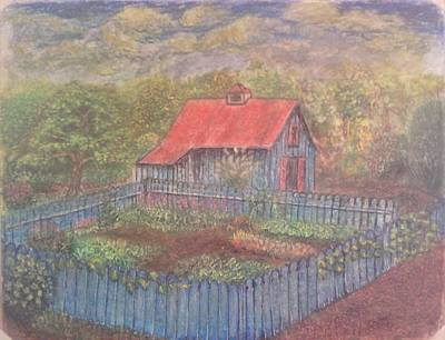 Chalk Pastel Mixed Media - The Garden Barn At Callaway Gardens by Andrew Pierce