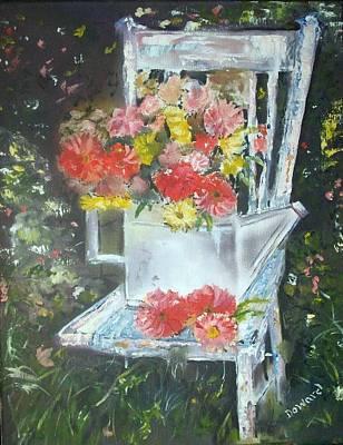 The Garden Chair Art Print by Raymond Doward