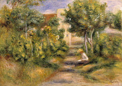 Pathway Painting - The Garden In Cagnes by Pierre Auguste Renoir