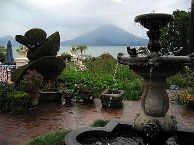 Panajachel Photograph - The Garden Next To The Lake - 2 by RicardMN Photography