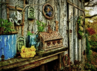 The Garden Shed Art Print by Kathy Jennings