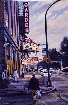 Painting - The Garden Theater by James Guentner