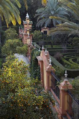 The Gardens Of The Alcazar Palace Art Print