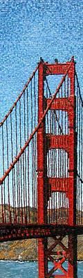 Golden Gate Mixed Media - The Gate by Michael Kruzich