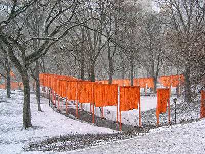 Photograph - The Gates In A Blizzard 1 by Cornelis Verwaal