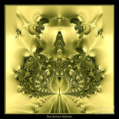 The Gates Of Heaven Fractal 66 Art Print by Rose Santuci-Sofranko