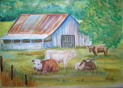 Painting - The Gatherin by Belinda Lawson